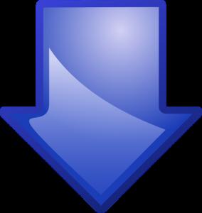 Lefelé mutató kék nyíl
